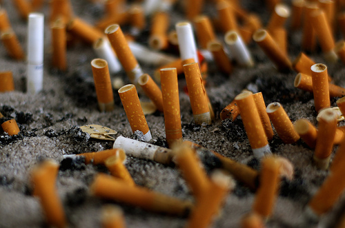 Cigarette Graveyard