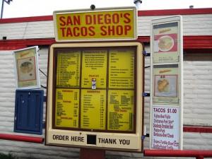 Drive-Thru Tacos Menu