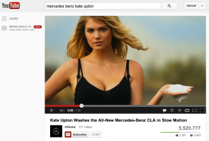 Kate Upton Mercedes Benz