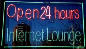 Open 24 Hours Internet Lounge