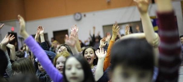 Kids Raise Hands